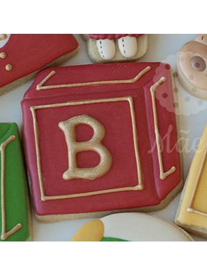 Cortador De Biscoito Livro ou Cubo (Tema Fábrica de Brinquedos)