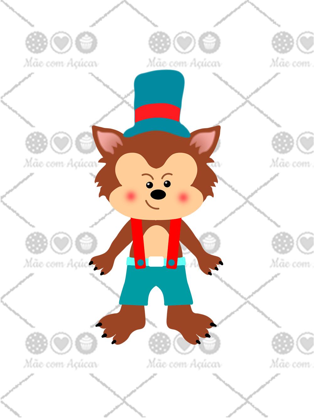 Cortador De Biscoito Lobo Mau (Tema Chapeuzinho Vermelho ou Três Porquinhos)
