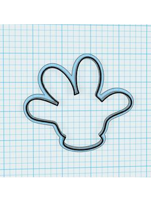 Cortador de Biscoito Luva do Mickey Mouse