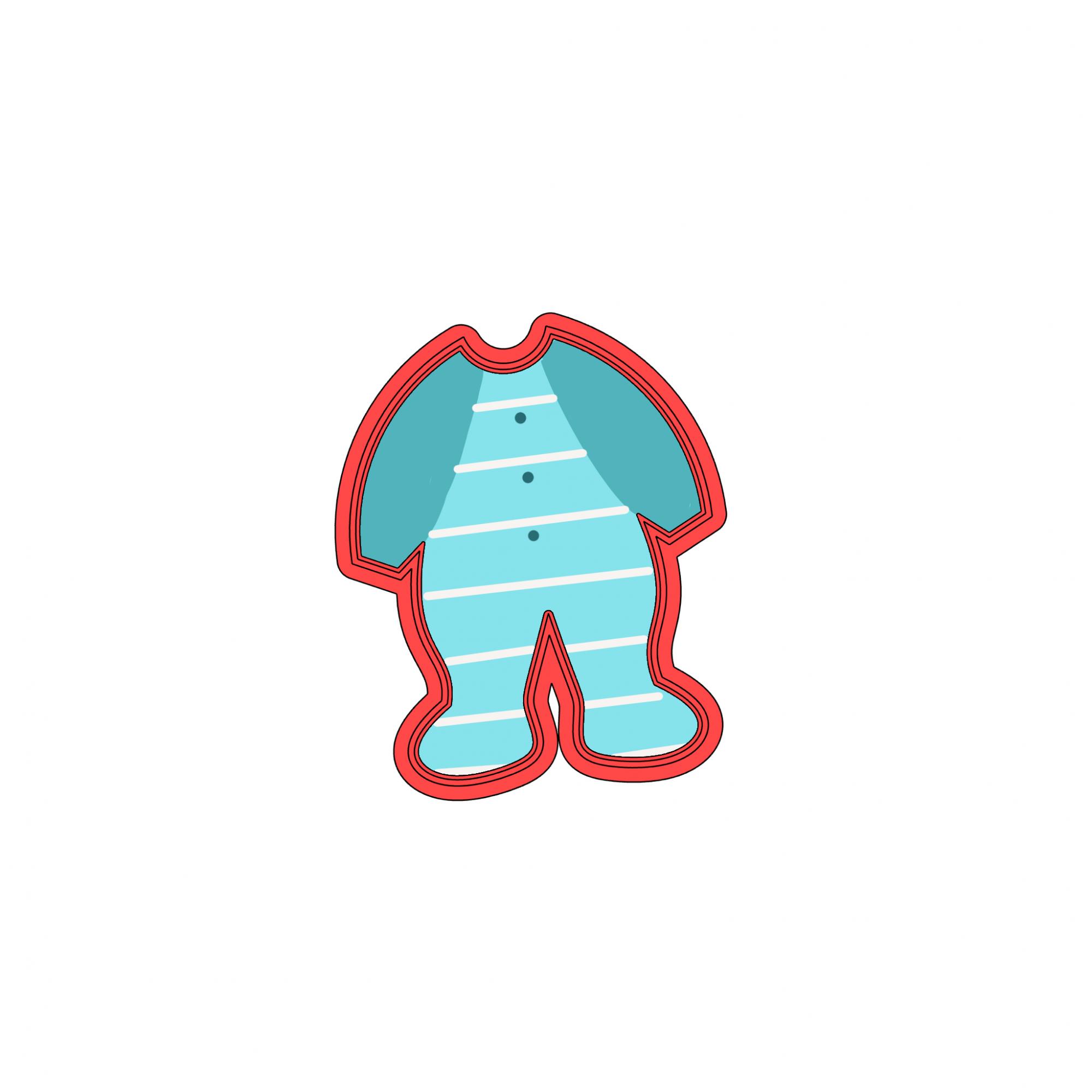 Cortador de Biscoito macacão de bebê