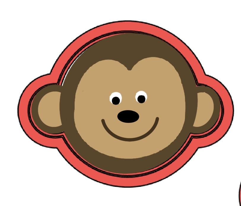 Cortador De Biscoito Macaco Rosto Mini