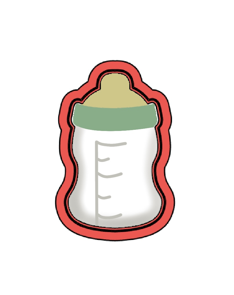 Cortador de Biscoito Mamadeira de Neném Mini (Tema Batizado ou Chá de Bebê)