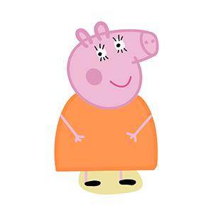 Cortador de Biscoito Mamãe Pig (Tema Peppa Pig)