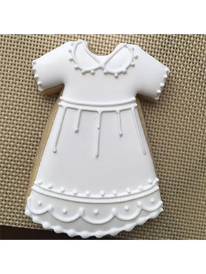 Cortador de Biscoito Mandrião de Vestido Neném (Tema Batizado ou Chá de Bebê)