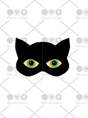Cortador de Biscoito Máscara do Cat Noir (Tema Miraculous)