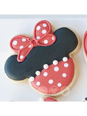 Cortador De Biscoito Minnie (Rosto) (Tema Mickey Mouse)