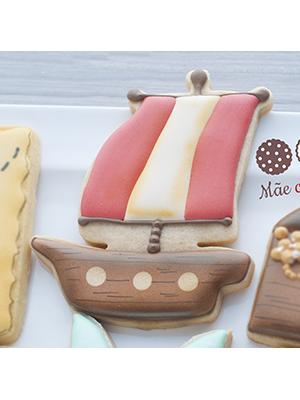 Cortador de Biscoito Navio ou Barco Pirata