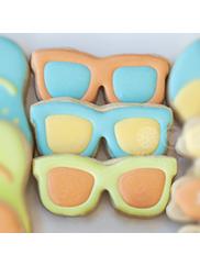 Cortador de Biscoito Óculos de Sol (Tema Praia)