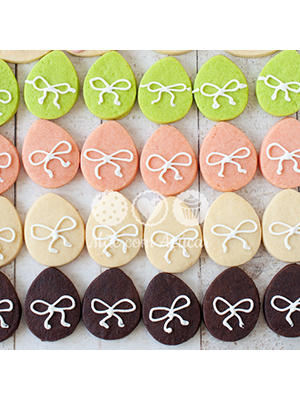 Cortador De Biscoito Ovos de Páscoa - MINI (4 ovinhos) (Tema Páscoa)