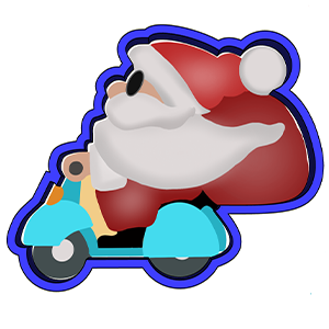 Cortador de Biscoito Papai Noel de moto
