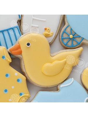 Cortador de Biscoito Pato de Borracha de Neném (Tema Batizado ou Chá de Bebê)