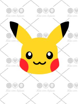 Cortador De Biscoito Pikachu (Rosto) (Tema Pokémon)