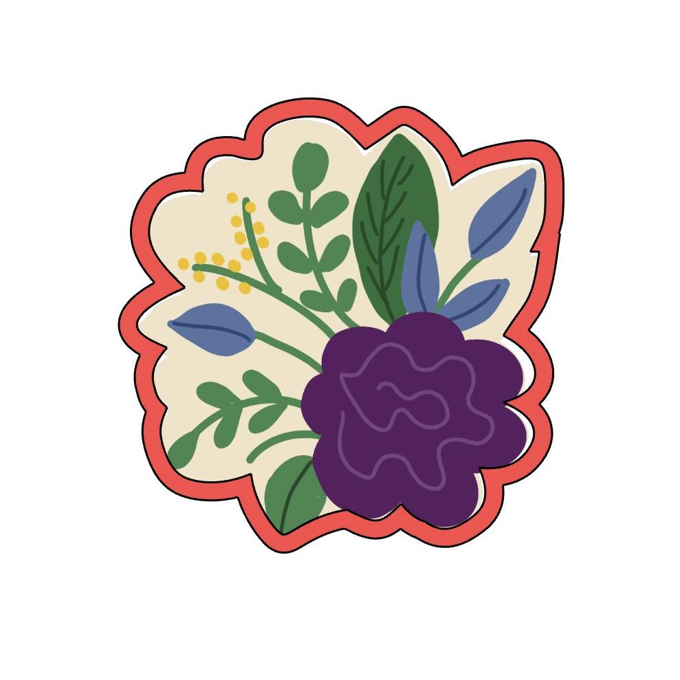 Cortador de Biscoito ramos de flores 2