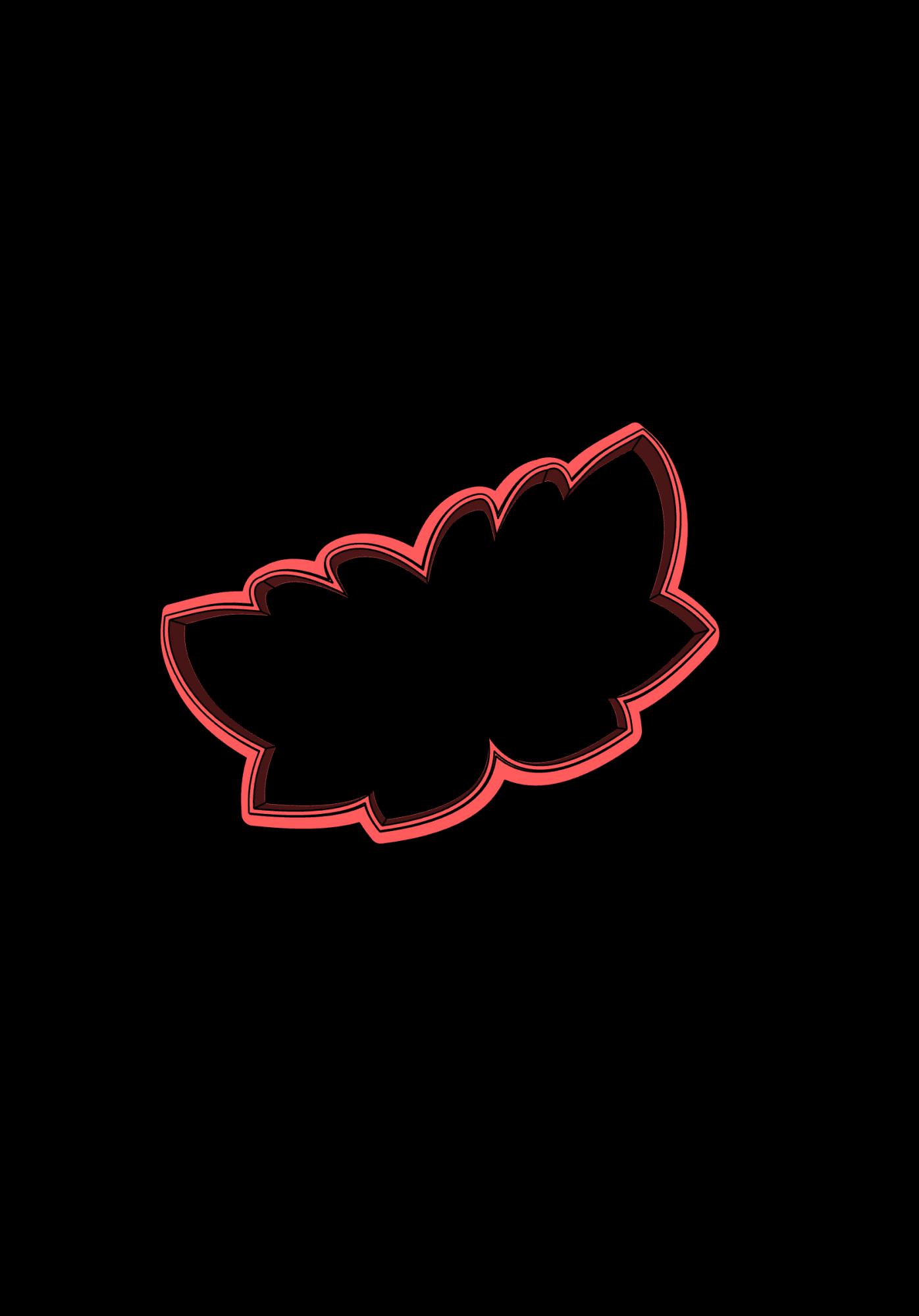 Cortador de Biscoito ramos de folhas