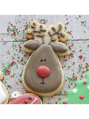 Cortador de Biscoito Rena do Papai Noel (Rosto) (Tema Natal)