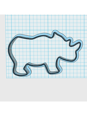 Cortador De Biscoito Rinoceronte