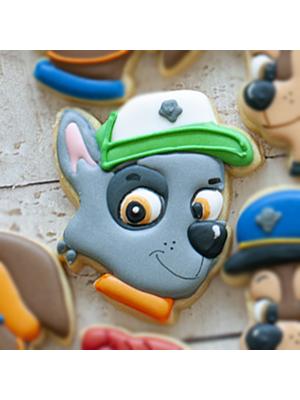 Cortador de Biscoito Rocky (Rosto) (Tema Patrulha Canina)