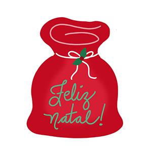 Cortador de Biscoito Saco do Papai Noel  (Tema Natal)