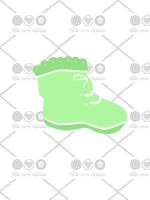 Cortador de Biscoito Sapatinho de Neném (Tema Batizado ou Chá de Bebê)