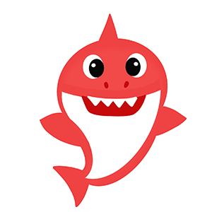Cortador de Biscoito Tubarão Baby Shark (Tema Praia ou Fundo do Mar)