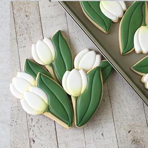 Cortador de Biscoito tulipa com folha mini