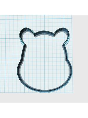 Cortador de Biscoito Urso 01 (Rosto)