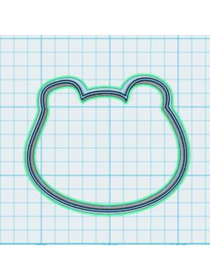 Cortador de Biscoito Urso 02 (Rosto)