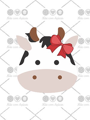 Cortador De Biscoito Vaca (Rosto)