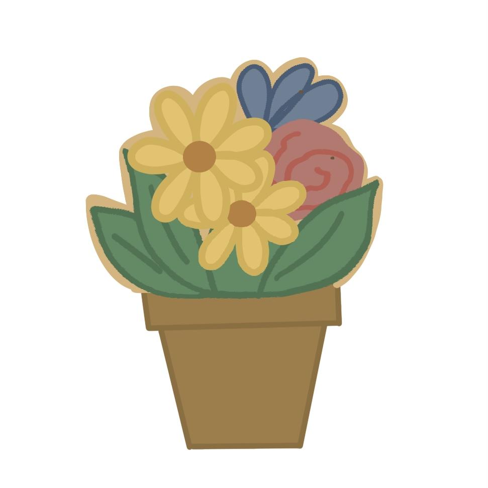 Cortador de Biscoito Vaso de Flores em 2 partes