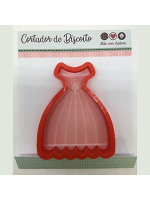 Cortador de Biscoito Vestido de Noiva (Tema Princesa)