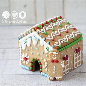 Kit Cortadores para Casinha de Gingerbread - (lados de 8,0 cm)