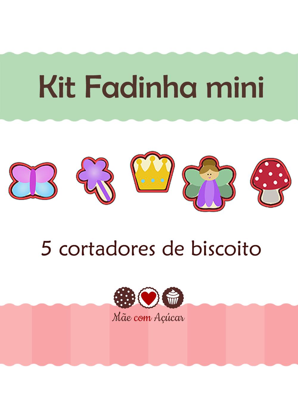 Kit de Cortadores de Biscoito mini Tema Fadas