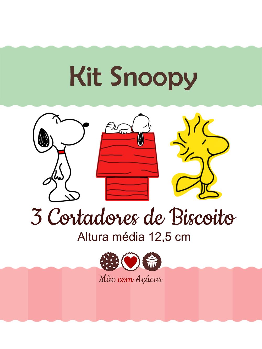 Kit de Cortadores de Biscoito Tema Snoopy