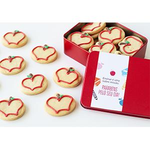 Lata de Biscoitos Decorados dia dos Professores