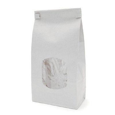 Saco Reutilizável Branco para Alimentos - Pacote com 10 Unidades