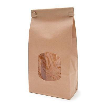 Saco Reutilizável Kraft para Alimentos - Pacote com 10 Unidades