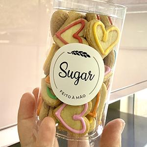 Sugar De-Coração - decorados de baunilha com glacê real - 120 g