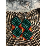 Brinco Indígena Tons Quentes