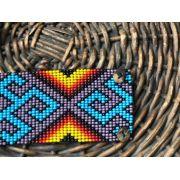 Pulseira Indígena Aberta Amarela e Azul