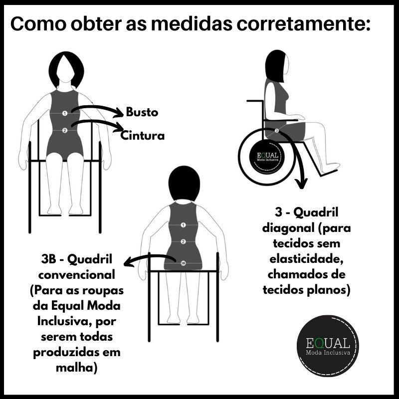 Calça Comprida Adaptada para Cadeirantes