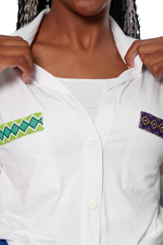 Camisa Bolso Indígena com Imãs e Braille