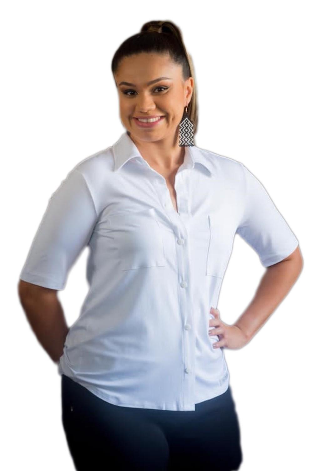 Camisa Branca com Imãs e Braille