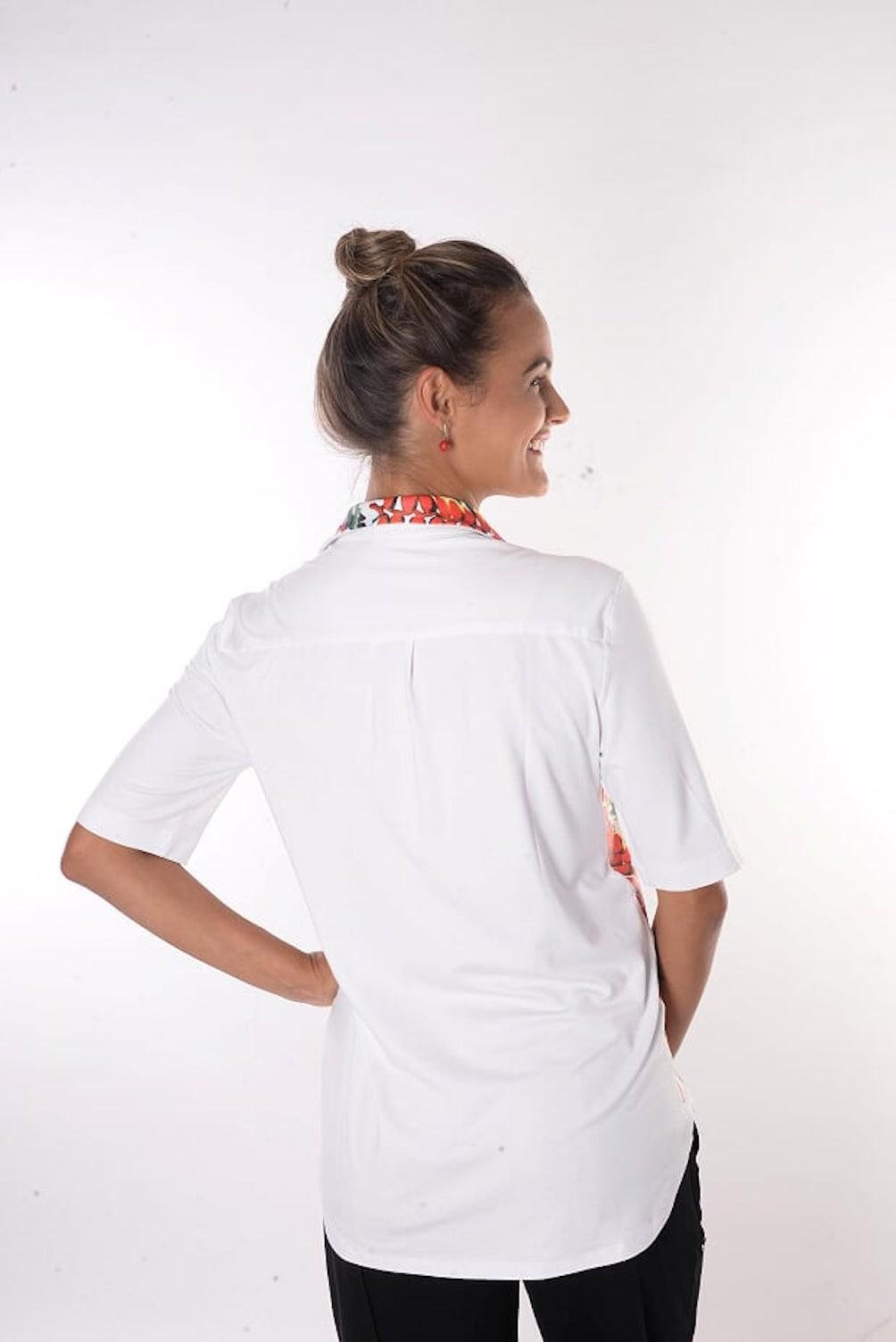 Camisa Estampa Lateral com Imãs