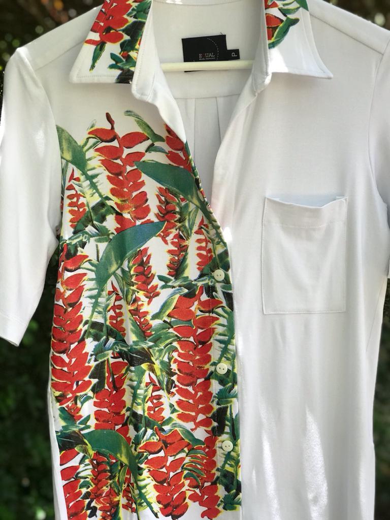 Camisa Jardim Secreto com Botões