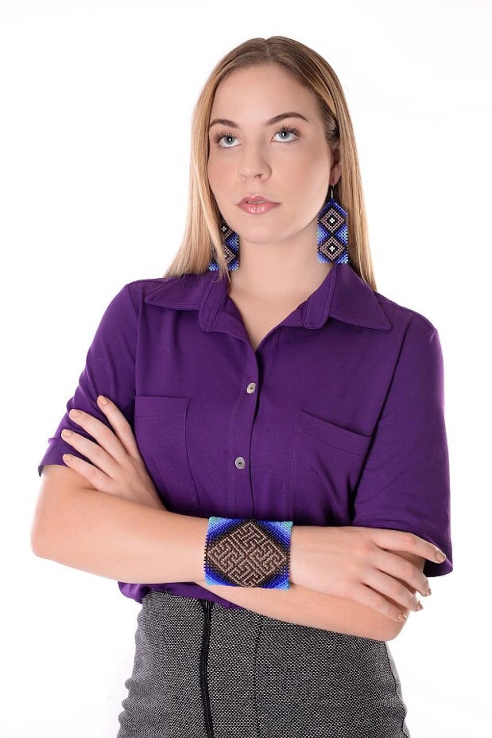 Camisa Lisa Roxa