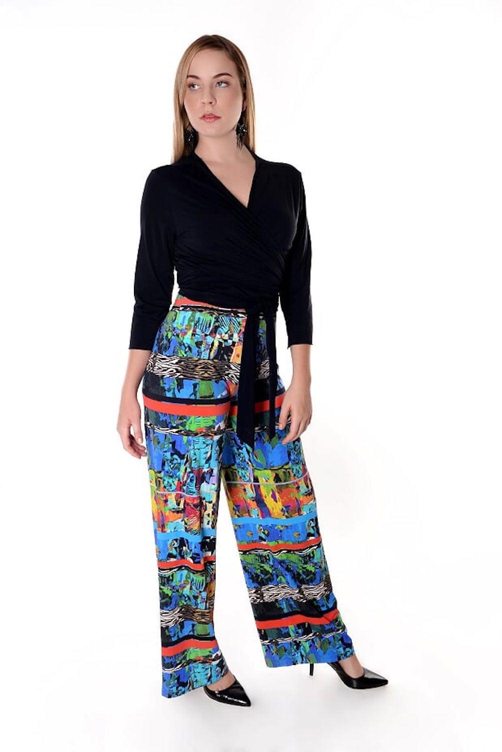 Pantalona Estampada em Malha