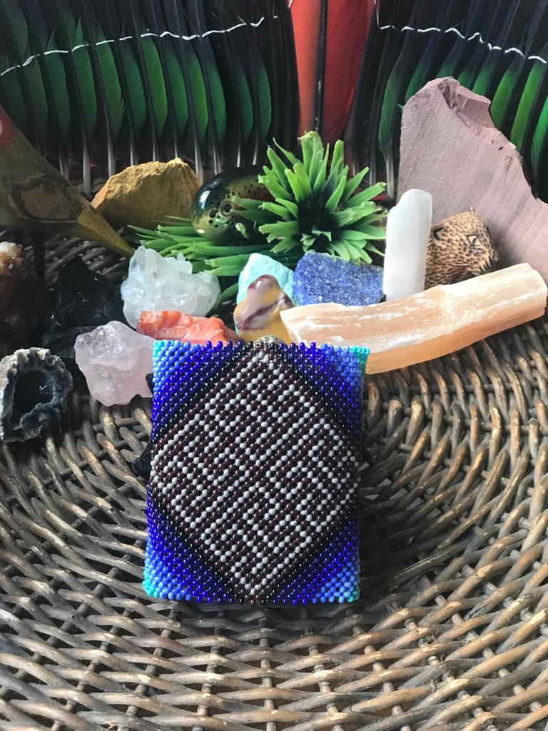 Pulseira Indígena Larga Azul