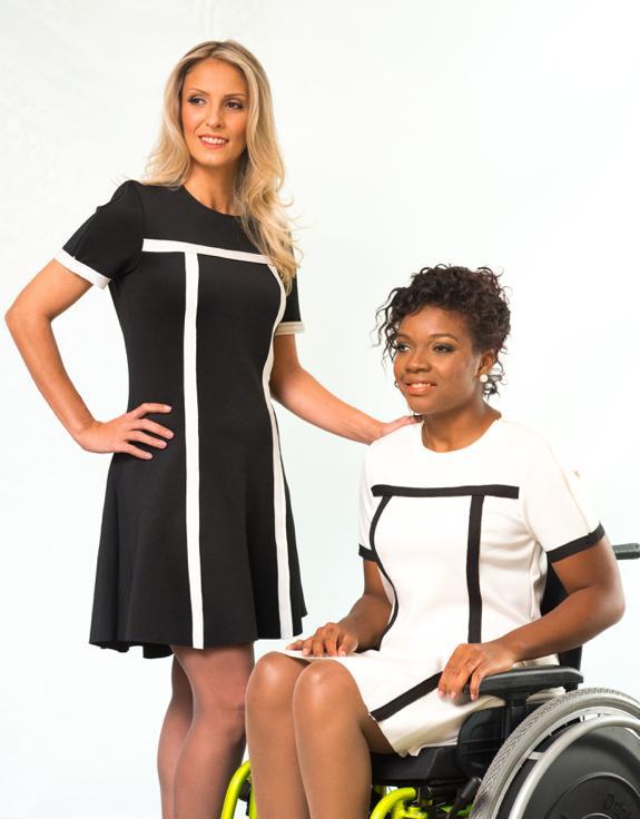 Vestido com Debrum Adaptado para Cadeirante