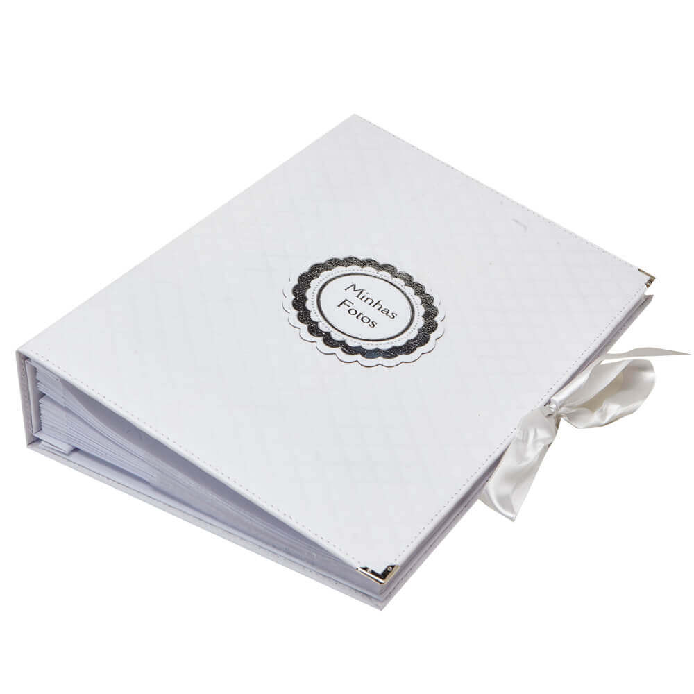 Álbum de Fotos - Matelassê Branco