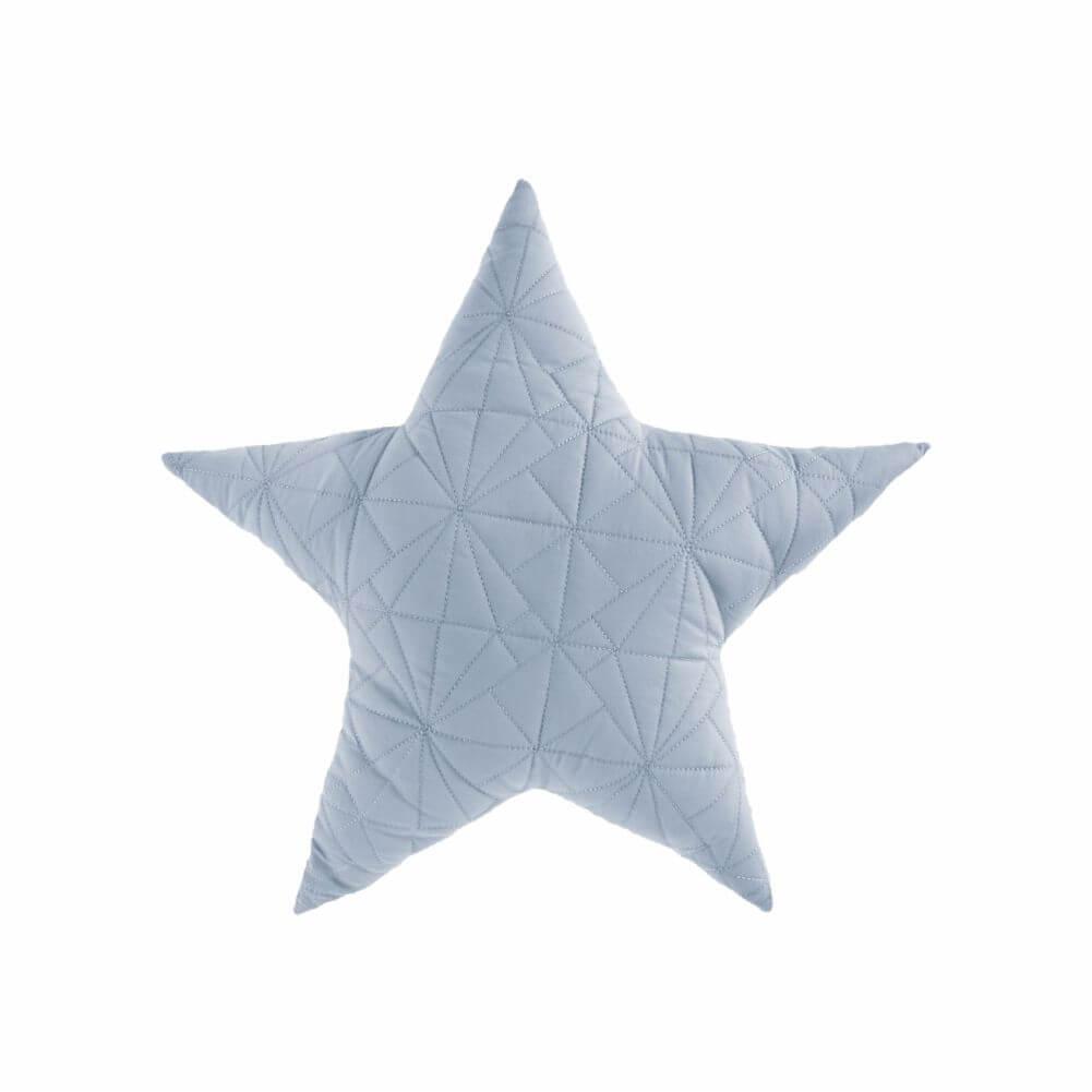 Almofada Decorativa Estrela em Matelassê Azul